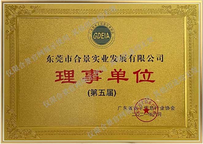 广东省电子信息行业协会理事单位